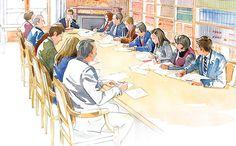 Patrick Clouet » Croquis aquarellés pour le Conseil d'Etat