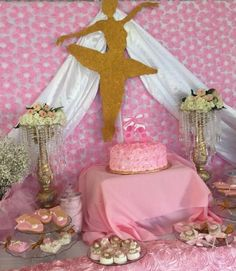Ballerina birthday party dessert table! See more party ideas at CatchMyParty.com!