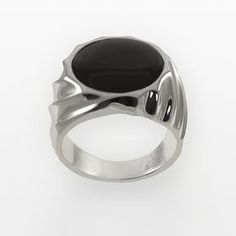 Sterling silver onyx ring - men on shopstyle.com