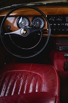 Jaguar interiors by Davide Mantovanelli (via A Thousand Kisses Deep)