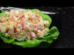 How to make a simple Crab Stick Salad Crab Stick, Mini Burgers, Canned Corn, Cooking Recipes, Healthy Recipes, Food For Thought, Coco, Guacamole, Ravioli