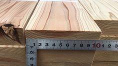 栃木県産の「杉」の間柱 寸法3000×105×30
