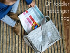 This Little Miggy Stayed Home: Toddler Messenger Bag Tutorial