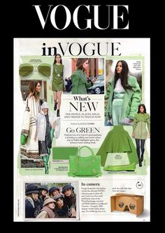Vogue October Issue 2016 - Featuring our green croc effect patent leather Henrietta ballet flats.