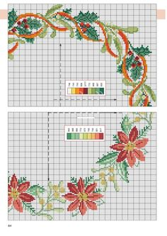 Gallery.ru / Фото #64 - Point de Croix 64 - natalytretyak Cross Stitch Christmas Cards, Xmas Cross Stitch, Cross Stitch Borders, Cross Stitch Flowers, Christmas Cross, Counted Cross Stitch Patterns, Cross Stitch Designs, Cross Stitching, Cross Stitch Embroidery