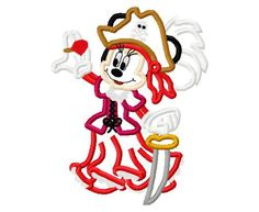 Minnie Mouse Full Pirate embroidery applique by findmeonFBplease, $2.75