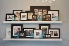 Love Lindsey's Photo Shelf in the Dining Room