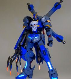 GUNDAM GUY: HGBF 1/144 Crossbone Gundam Cerberus - Customized Build