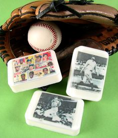 5 Days of Father's Day: Vintage Baseball Soap - Soap Queen Soap Making Supplies, Craft Supplies, Baseball Bathroom, Water Soluble Paper, Soap Favors, Party Favors, Kids Market, Body Tutorial, Baseball Crafts