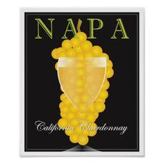 NAPA POSTER - beautiful gift idea present diy cyo
