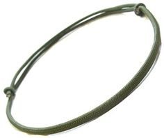 Olive Green Adjustable Knotted Cord Paracord Necklace Paracord Bracelets, Jewelry Bracelets, Necklaces, Men Necklace, Olive Green, Silver, Money, Chain, Collar Necklace