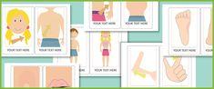 Editable Body Parts Cards (woordkaarten maken)