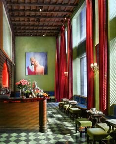 This is the best photo of this room I've seen- my own were too blurry...Gramercy Park Hotel, New York, New York