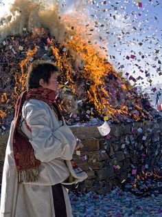 Prayers in the wind . Tibet. Tibet is a different nation of China. Tibet is not a part of China but a country.