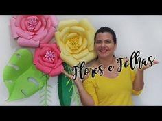 Painel de Flores de Papel | Faça você mesma | Eva Medeiros - YouTube
