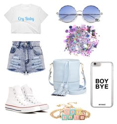 """""""Untitled #23"""" by mia-starr-zamora on Polyvore featuring Hot Topic, Converse, Milly and The Gypsy Shrine"""