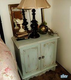Shabby chic style nightstand re-do
