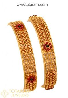 Gold Bangles for Women in Gold -Indian Gold Jewelry -Buy Online Gold Bangles For Women, Gold Bangles Design, Gold Jewellery Design, Silver Bracelets, Gold Jewelry, Bangle Bracelets, Craft Jewelry, Handmade Jewellery, Bridal Jewelry