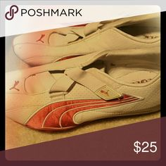 Women's Puma No Laces Athletic Shoes Pink and white never worn Puma Shoes Athletic Shoes