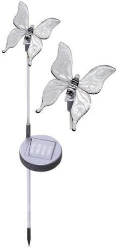 Solar Garden Stake Accents Garden Or Pathway With A Whimsical Butterfly Motif . $29.95