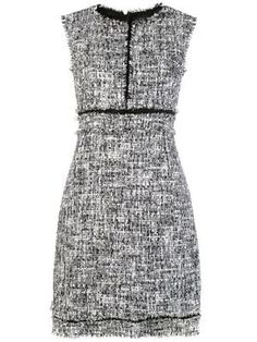 Shop online Giambattista Valli tweed mini dress now with Same Day Delivery in London. Mini Shirt Dress, Silk Mini Dress, Gray Dress, Blue Dresses, Summer Outfits, Cute Outfits, Tweed Dress, Facon, Italian Fashion