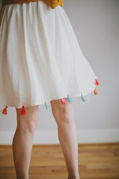 DIY Tassel Skirt by Vanilla and lace