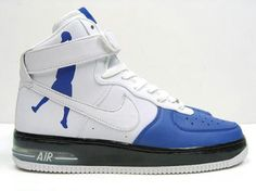 online retailer 47d67 73d60 Nike Air Force One High Supreme White Sheed Varsity Air Force One Shoes, Air  Force