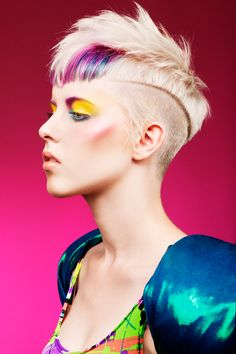 What you have to love about hairstylist, is the innovation and talent behind their work. The model, haircut, color, and overall style speaks volumes! #PMTSAustin #RainbowHair via: culturemag.com.au