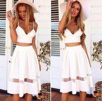 Gorgeous White Two Piece Dress ❤️ Gorgeous White Two Piece Crop Top Midi Skirt Dress ❤️ Dresses Cute Dresses, Short Dresses, Cute Outfits, Cheap Dresses, Classy Outfits, Dress Long, Casual Outfits, Sexy Bikini, Plus Size Club Dresses