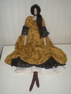 Tilda Doll  Amber is wearing a romantic dress by DianesDollCloset, https://www.etsy.com/listing/166083976/tilda-doll-amber-is-wearing-a-romantic