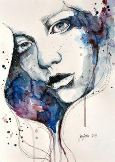 Watercolor Portraiture Paintings by Jane Beata
