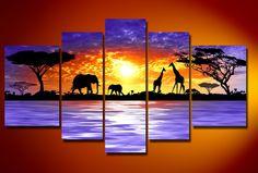 Multi Canvas Art Giraffe   Living Rooms Magazine