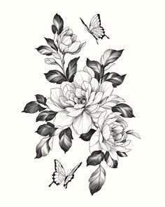 Purple Flower Tattoos, Floral Back Tattoos, Mandala Flower Tattoos, Floral Tattoo Design, Flower Tattoo Designs, Lil Peep Tattoos, Cute Tattoos, Print Tattoos, Beautiful Flower Drawings