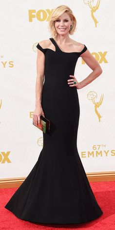 Emmys 2015 Red Carpet Arrivals - Julie Bowen in Georges Chakra - from InStyle.com