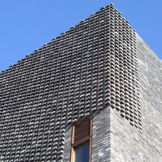 Facade Tetris: The Luminous And Textured Potential of Brick - Architizer Brick Design, Facade Design, Exterior Design, Brick Masonry, Brick Facade, Brick Walls, Brick Building, Building Design, Architecture Design