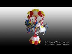 Balloon Carousel, Decoration, Horse, Ballon Karussell, Dekoration, Luftballon, Link O Loon, Pferd - YouTube
