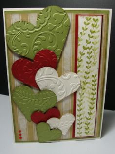 Falling Hearts by coffeediva - Cards and Paper Crafts at Splitcoaststampers