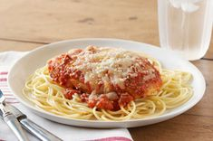 Easy Chicken Parmesan recipe...love this recipe.  So easy and so good!