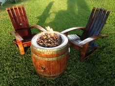 Portable Wine Barrel Fire Pit by AWineofaKind on Etsy