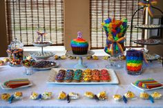 more great ideas for rainbow themed party