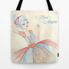 Marie Antoinette Tote Bag by carotoki art and love - $22.00