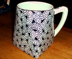 Sharpie on a dollar store mug - baked - so, let's see if it holds up to usage!