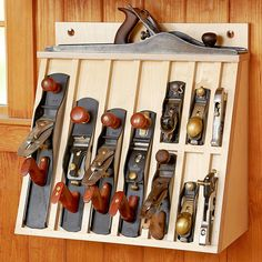 Hand-plane Rack Woodworking Plan from WOOD Magazine