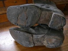 Authentic Civil War boots Rare |