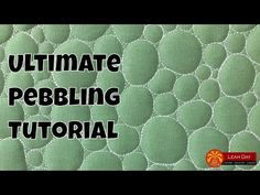 (9) Let's Quilt Pebbling! Quilting on a Home Machine and Longarm Frame - YouTube