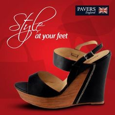 Rock that #party look by adding these ravishing pair of black #wedges to your collection.