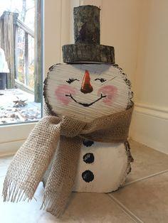 Items similar to Handmade rustic Christmas snowman on Etsy Christmas Wood Crafts, Snowman Crafts, Outdoor Christmas Decorations, Christmas Snowman, Rustic Christmas, Christmas Projects, Holiday Crafts, Christmas Ornaments, Wooden Snowmen