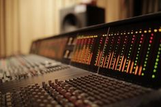 Console Meters. I just love arty console pictures. #recording