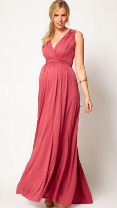 Maternity Exclusive Maxi Dress In Grecian Drape