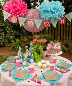 Lilly Pulitzer Fan Dance Personalized'One Click' Party Package